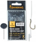BROWNING PRZYPON FEEDER METHOD PUSH STOP BRAZOWY rozm 12  7,5LBS 0,20MM 10CM 6SZT