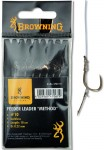 BROWNING PRZYPON FEEDER METHOD Z IGLA DO KULKI BRAZOWY rozm 12 / 0,20MM 10CM 8SZT