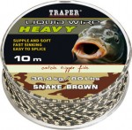 Plecionka Hevy Liquid Wire snake brown 10 m 0,9 mm 36,4 kg
