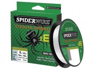 Plecionka Spiderwire Stealth 8 Smooth  150m 0.09 mm 7,50kg.TRANSLUCENT
